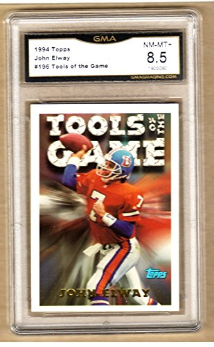 JOHN ELWAY 1994 TOPPS Tools Of The Trade Football Card-GRADED-196 Broncos-8.5