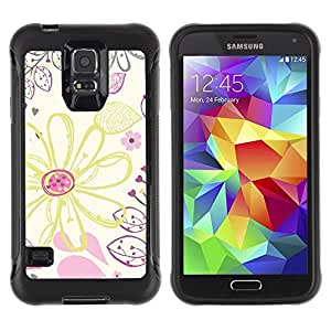 "Hypernova Defender Series TPU protection Cas Case Coque pour Samsung Galaxy S5 V [Dibujo Wallpaper Crayon Arte""]"