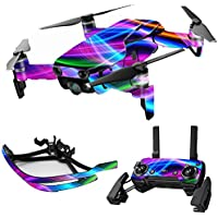 MightySkins Skin for DJI Mavic Air Drone - Light Waves | Max Combo Protective, Durable, and Unique Vinyl Decal wrap cover | Easy To Apply, Remove, and Change Styles | Made in the USA