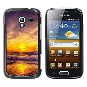 LECELL -- Funda protectora / Cubierta / Piel For Samsung Galaxy Ace 2 I8160 Ace II X S7560M -- Sunset Sea Beautiful Nature 11 --