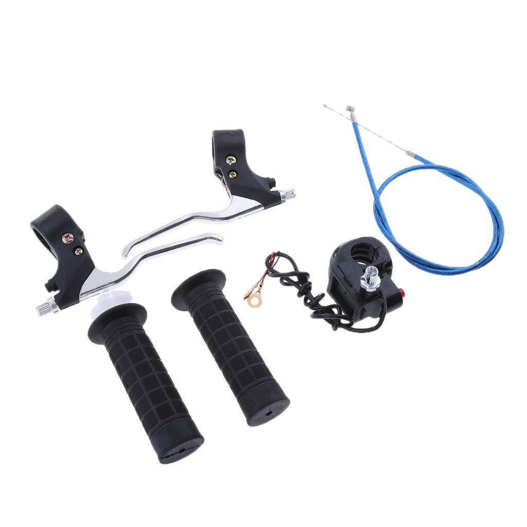 Homyl Palanca de Freno Cable de Acelerador Empu/ñaduras para 2 Strokes Mini Pocket Bike