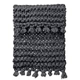Sikye Chunky Knitted Blanket Hand-Made Warm Thick Acrylic Knitting Throw Pet Mat Rug for Home Bedroom Decor 31.5'' x39.4 Inches (C)