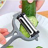 FlyerShop(TM) 3 in 1 Rotary Fruit Vegetable Carrot Potato Peeler Cutter Slicer Amazing Healthy
