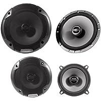 Package: Alpine Spe-6000 6.5 2 Way Pair of Car Speakers + Alpine Spe-5000 5.25 2 Way Pair of Car Speakers