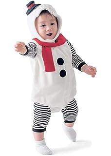 9b9ae4249a16a Burning Go 3点セット クリスマス 衣装 子供 雪だるま ベビー 雪だるまコスチューム サンタ コスプレ 女の子 男の子