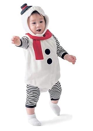 e342b712f24ba Burning Go 3点セット クリスマス 衣装 子供 雪だるま ベビー 雪だるまコスチューム サンタ コスプレ 女の子 男の子