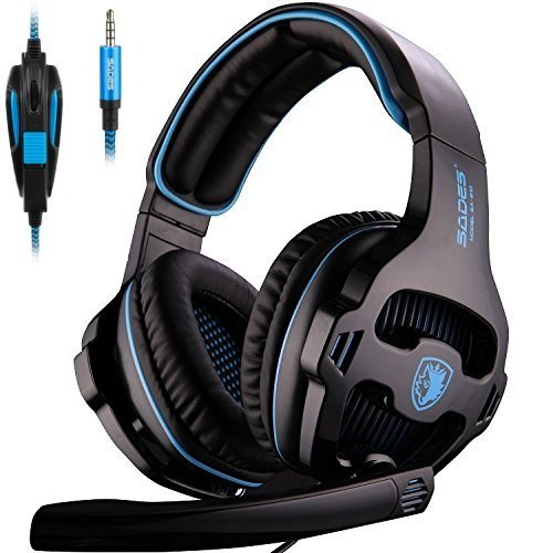25 opinioni per [Nuova versione aggiornata] Sades 810S Stereo Gaming Headset cuffie con