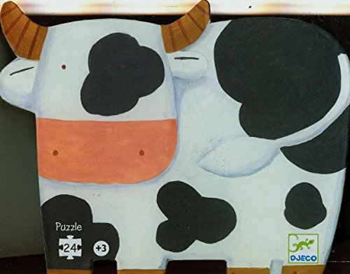 Animals Zoo Puzzle Shaped (Djeco / Shaped Box Puzzle, The Cows on the Farm)