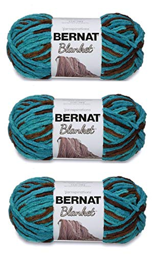 Bernat Bulk Buy Blanket Yarn (3-Pack) Mallard Wood 161200-203