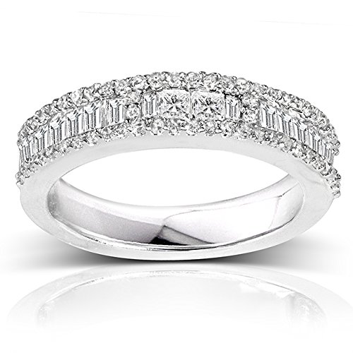 Diamond Wedding Band 3/5 carat (ctw) in 14K White Gold