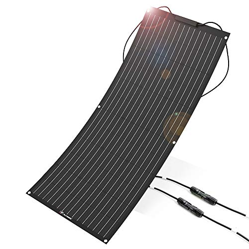 ALLPOWERS 100W 18V 12V Flexible Solar Panel Charger(with ETFE Layer, MC4 connectors) Bendable Water-Resistant Solar Charger for RV, Boat, Cabin, Tent, Car, Other Off Grid Applications- Updated (Allpower Solar Panel Charger)