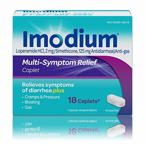Imodium Multi-Symptom Gas Relief & Anti-Diarrheal Caplets, 18 count(Pack of 3) by Imodium