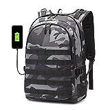 Backpack Men SchoolBag Mochila Pubg Battlefield Infantry Pack Camouflage Travel Canvas USB Charging