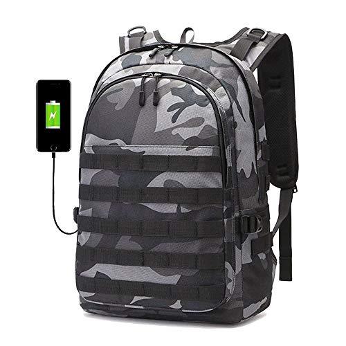 Backpack Men SchoolBag Mochila Pubg Battlefield Infantry Pack Camouflage Travel Canvas USB Charging Camouflage Back Knapsack Male 493420