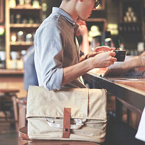 Color : Dark Gray, Size : S JIUYAODIANZI Mens Bags for Work Mens Shoulder Canvas Bags Crossbody Bag Casual Portable Large Capacity Mens Bag