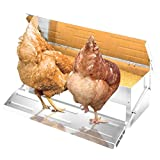 Automatic Chicken Feeder Auto Opening Treadle Self Aluminium Feed Trough Poultry