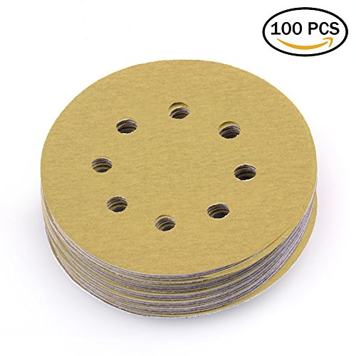 LotFancy 5 Inch 8 Hole Dustless Sanding