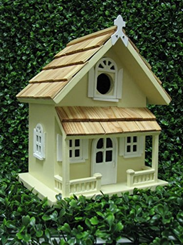 CC Home Furnishings Fully Functional Yellow Rustic English Cottage Outdoor Garden Birdhouse Review