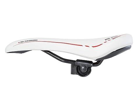 Sella per Bicicletta da Uomo Selle Monte Grappa Colore Bianco Bici da Corsa per MTB