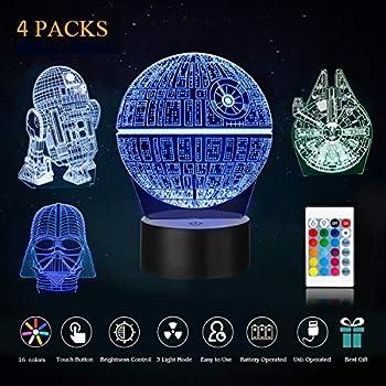 Punctual Star Wars Darth Vader Helmet Model Figure Led Luminous Nightlight Colourful Fairy Light Glow In The Dark Night Desktop Toys For Sale Action & Toy Figures