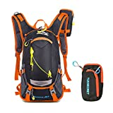 Riding Backpacks 20L Waterproof Outdoors Traveling Rucksack Hiking Daypacks Trekking Backpacks for Men Women With a Small Zipper Bag Upgrade Style ( Orange )