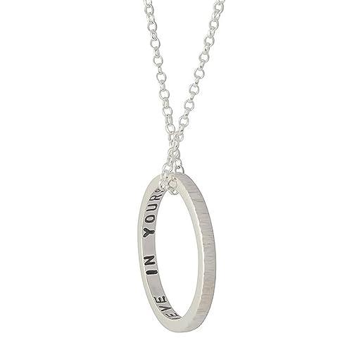 8a34ef6df12e Colgante personalizado de plata esterlina para mujer  Amazon.es ...