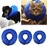 Blue Protective Inflatable Collar for Pet,Soft Recovery Pet E-Collar for Cats and Dogs After Surgery