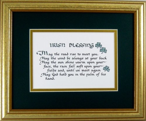 McDarlins Calligraphy Irish Blessing Saying Home Decor Wall Hanging Framed