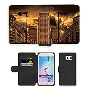 Hot Style Cell Phone Card Slot PU Leather Wallet Case // M00170180 City London England Architecture // Samsung Galaxy S6 (Not Fits S6 EDGE)