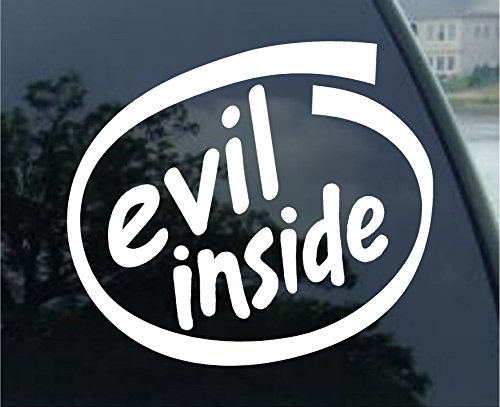 Sassy Stickers Evil Inside - Devil - Vinyl Window Decal Sticker White