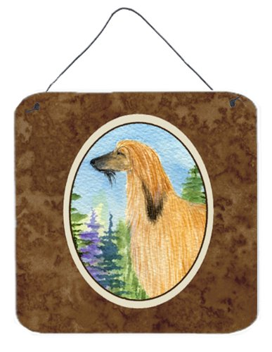 6 x 6 Carolines Treasures SS8220DS66 Afghan Hound Aluminum Metal Wall or Door Hanging Prints Multicolor