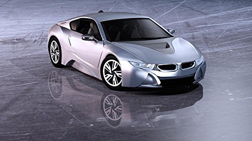 Gifts Delight LAMINATED 42x24 inches POSTER: Electric Car Sports Car Car Auto Pkw Automotive Passengers Cars Coupe Nobel Body Sporty Bmw Electrically Environmentally Friendly Dream Car Abendstimmung - Auto Body Coupe