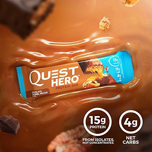 Quest Hero Protein Bar Chocolate Caramel Pecan