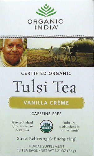 Organic India USA - Tulsi Vanilla Creme Tea, 18 bags
