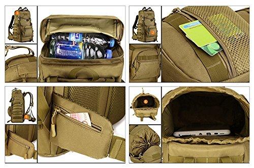 SUNVP 55L Tactical Military Molle Angriffs-Rucksack-Pack Große Wasserdichte Tasche Rucksack Sport Outdoor für die Jagd Camping Trekking