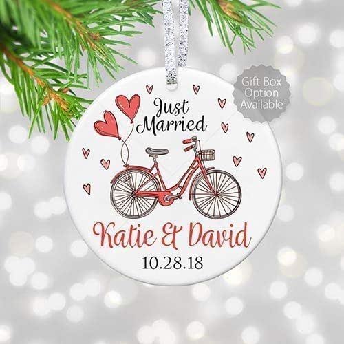 Christmas Ornament Wedding Gift: Amazon.com: Just Married Ornament 2018, Personalized