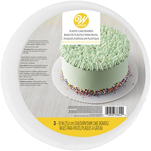 Wilton Fluted Round Cake Boards, White, 23cm (9in) Pack of 3 by Wilton