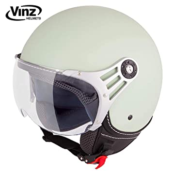 Amazonfr Vinz Casque De Moto Casque Jet Casque Scooter Fashion