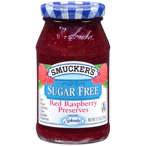 Smucker's Sugar Free Red Raspberry Preserves (Pack of 4) ()