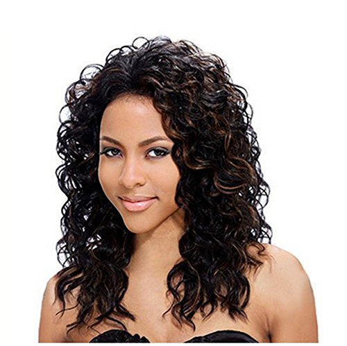2017 Trendy Super Fluffy Medium Curly Hair Pick Color Dyeable Hairstyles Full Wig