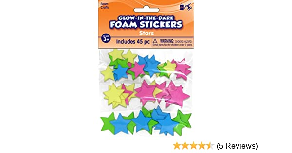 Glow-In-The-Dark Stars Foam Stickers 450 pcs