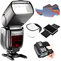 Neewer TTL Flash for Sony New Mi Hot Shoe Camera Wireless GN60 2.4G HSS Master/Slave Speedlite, Kit Includes: N1T-S Trigger, Soft Diffuser Cap, 20 Pieces Color Filter and Mini Honeycomb