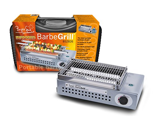 Barbegrill Brightspark Portable Gas Grill, Stainless Steel, Grey, 39 x 22.7...