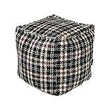 ComforHome Home Decor Bean Bag Pouf Floor Pouf Handmade Ottoman; Colorful Footstool Color-6