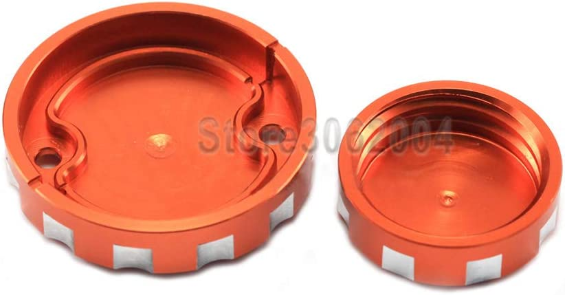 For KTM 1290 SUPER Adventure S//T//R 2015-2018 Front Rear Brake Cylinder Cover Reservoir Motocycle Accessories Oil Fluid Cap SUPERAdventureap Tank Cup Orange With Logo not fit left clutch cover