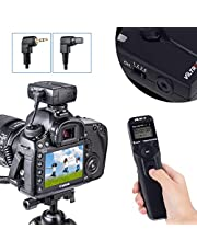 VILTROX Wireless Shutter Timer Remote Release Control with Intervalometer for Canon 500D 550D 1300D 1200D 1100D 80D 77D 1500D 600D 650D 760D 750D 700D 5DM2 5DM3 5DM4 5D 5DS 5DSR 7D 6D 50D 40D 30D D60