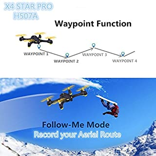 HUBSAN H507A X4 APP Driven WiFi FPV RC Quadcopter Drone with 720P HD Camera Live Video GPS