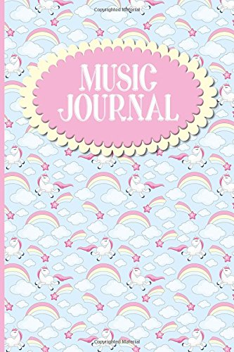 Download Music Journal: With Lined/Ruled Paper And Staff, Manuscript Paper For Notes: Song Writing Tool For Beginners, Songwriting Journal Leather - Unicorn Cover (Volume 82) PDF