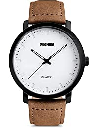 Mens Unique Analog Quartz Waterproof Business Casual...
