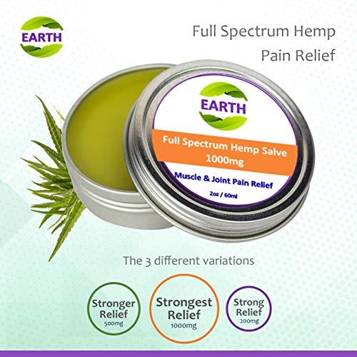 Organic Hemp Salve - 2oz / 60 ml with 1000mg Full Spectrum Hemp